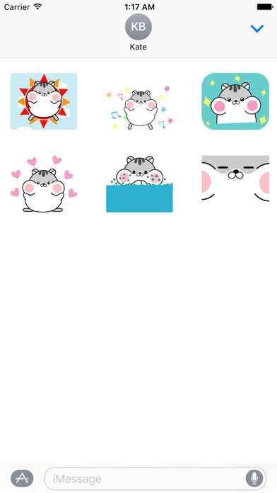 Lazy and Chubby Hamster Animated Gif Sticker screenshot 2