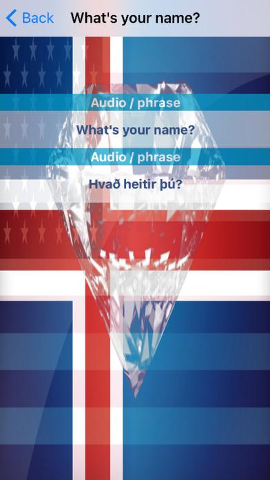 Icelandic Phrases Diamond 4K Edition screenshot 3