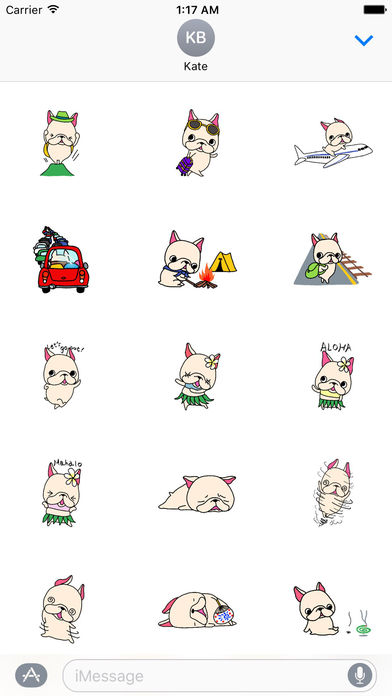 French Bulldog Sticker for Summer screenshot 2