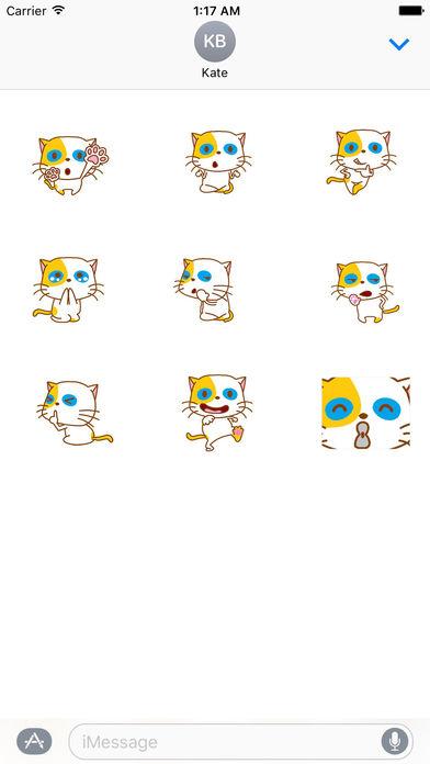 Playful Cat Animated Sticker screenshot 2