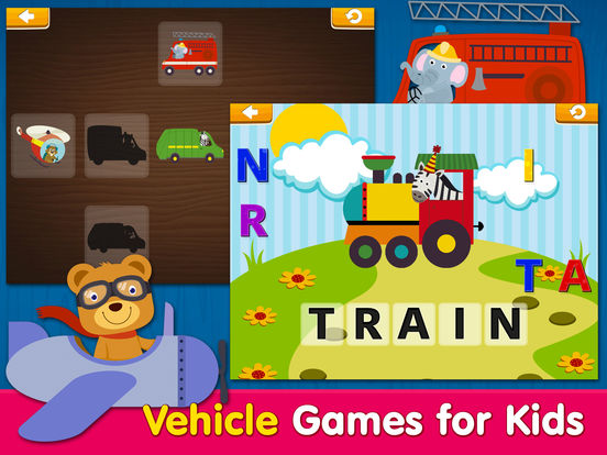 Smart Baby! Vehicles. Toddler Games for boys girls screenshot 9