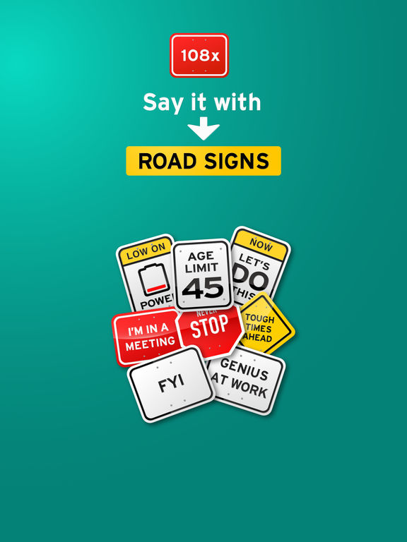 100+ Funny Road Signs Sticker Pack screenshot 5