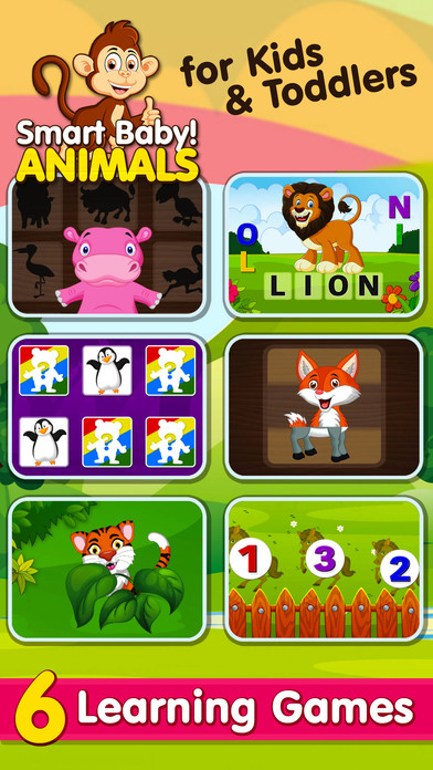 Smart Baby! Animals: ABC Learning Kids Games, Apps screenshot 1