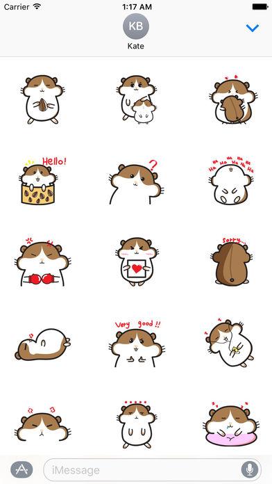 Cute Hamster - Hamsmoji Sticker screenshot 1