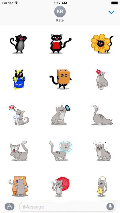 Many Cute Cats Sticker Pack screenshot 2