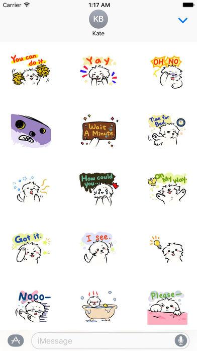 Cute Coton Dog Sticker screenshot 2