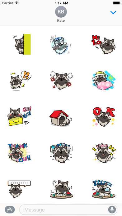 Keeshond Dog - Kees Emoji Stickers screenshot 2