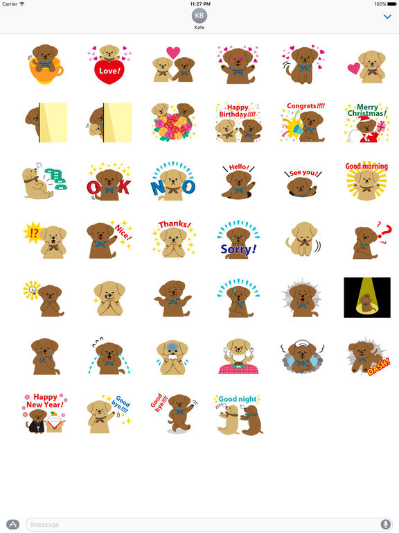 Two Adorable Puppies Sticker Packs screenshot 4