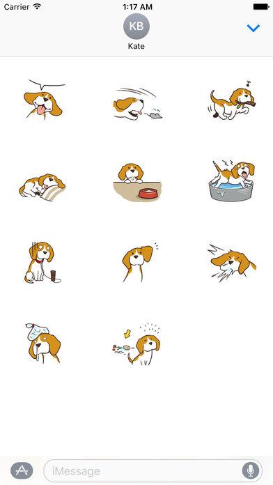 Cute and Smart Beagle Dog Sticker screenshot 3