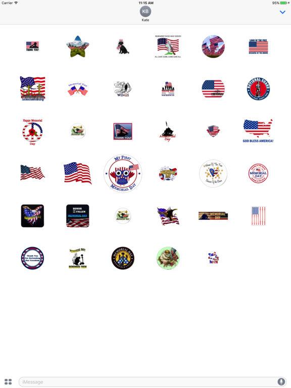 Memorial Day 2017 Sticker screenshot 4