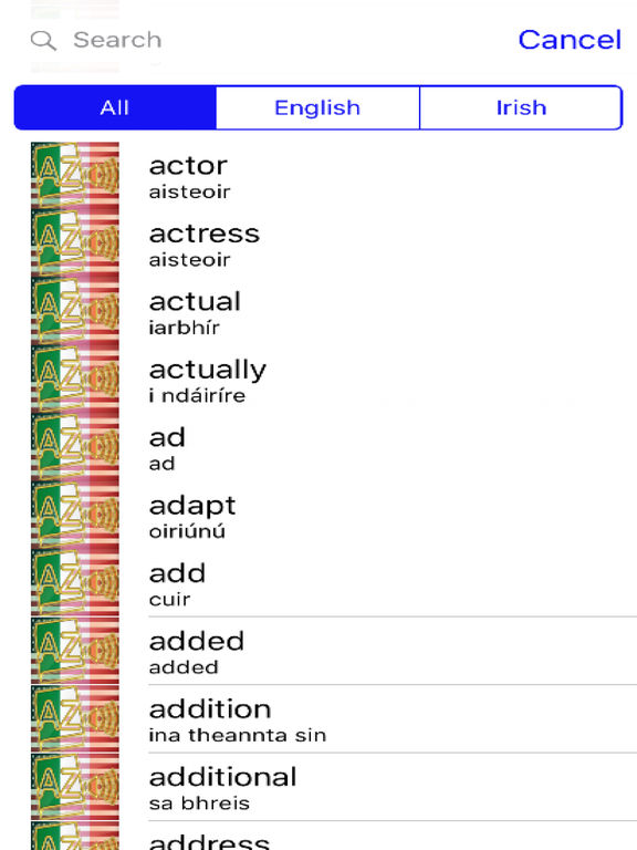 Irish Dictionary GoldEdition screenshot 7