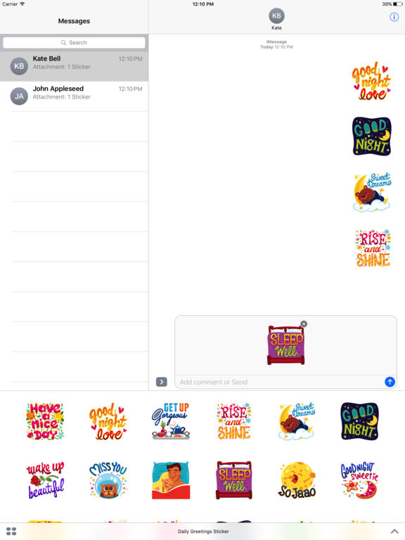 Daily Greetings Stickers screenshot 4