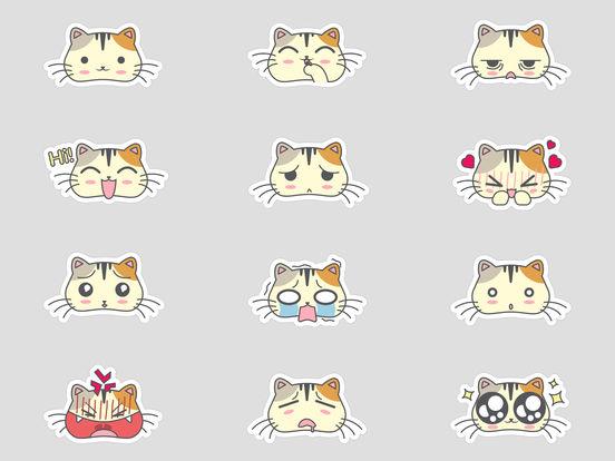 Fun Cat Emoji Sticker Pack - say it the catty way! screenshot 3