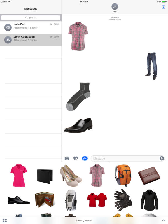 Clothing Stickers for iMessage screenshot 3