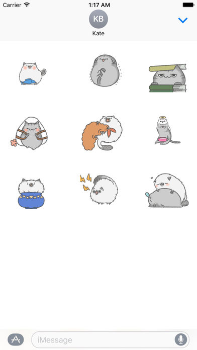 Animated Watercolor Cute Cat Gif Stickers screenshot 2