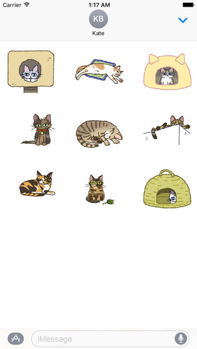 Adorable and Lazy Cat Animated Stickers screenshot 2