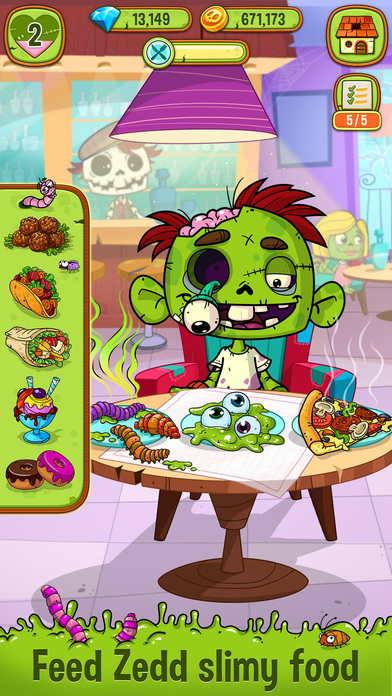 Zedd the Zombie - Grow Your Wacky Friend screenshot 1