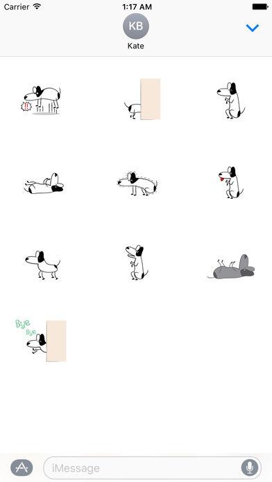 Funny Bull Terrier Dog Sticker screenshot 3