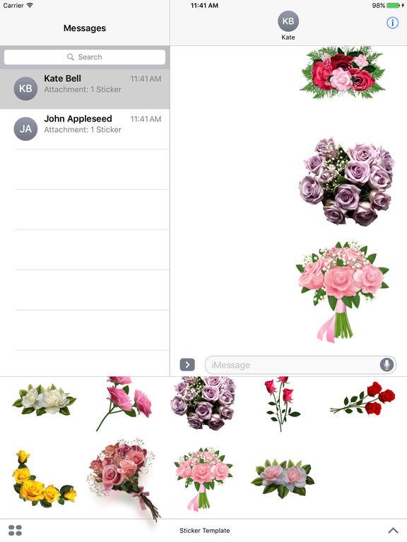 Flower Bouquets Bundle Stickers screenshot 9