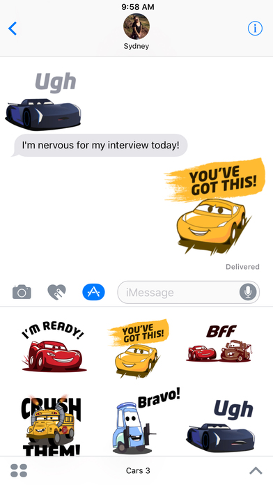 Pixar Stickers: Cars 3 screenshot 1