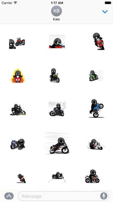 Animated Freeman Rider Stickers screenshot 1
