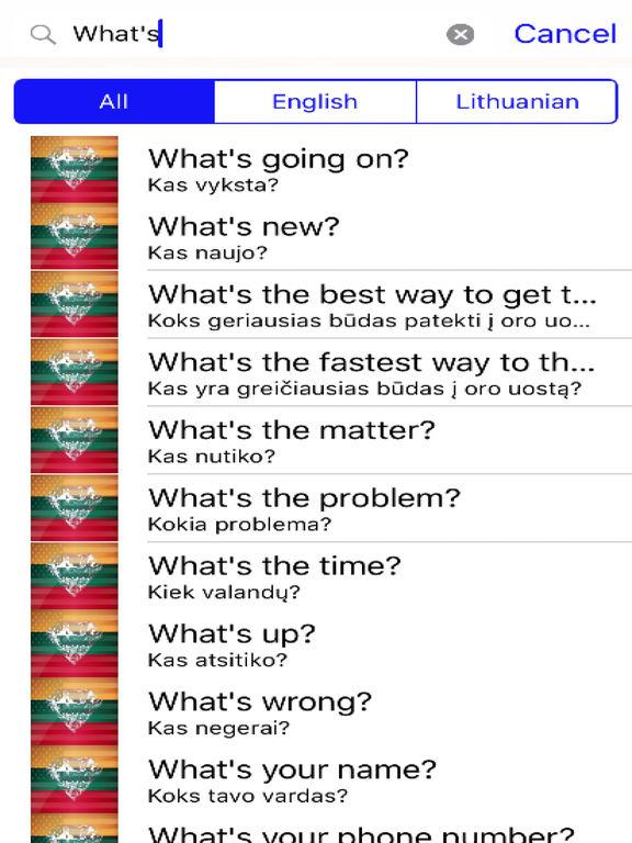 Lithuanian Phrases Diamond 4K Edition screenshot 5