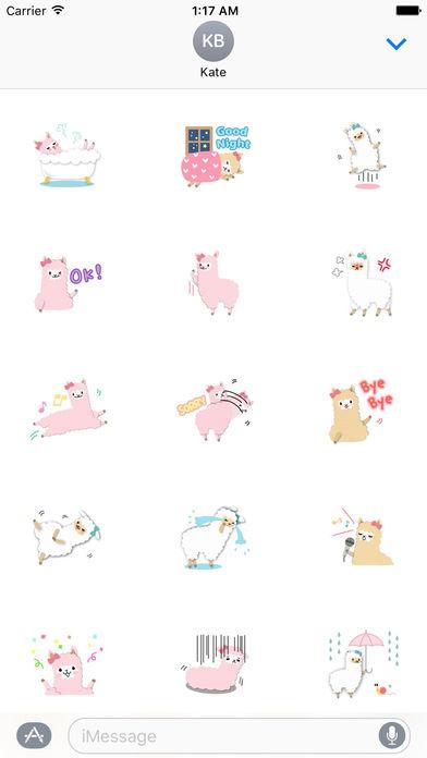 Adorable Alpaca Emoji Sticker screenshot 2