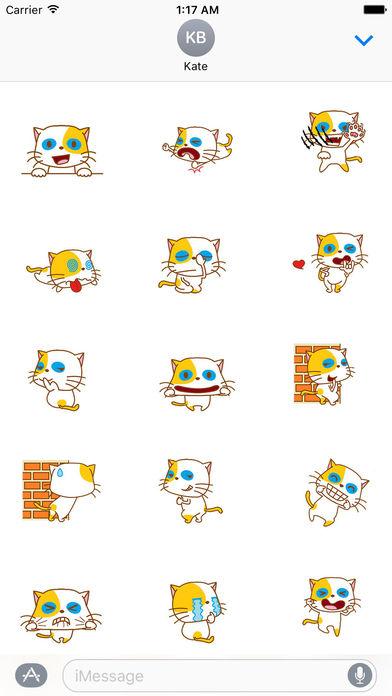 Playful Cat Animated Sticker screenshot 1