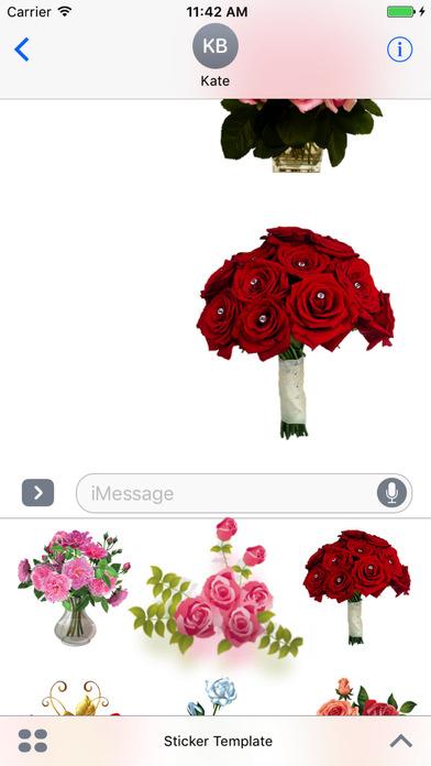 Flower Bouquets Bundle Stickers screenshot 4