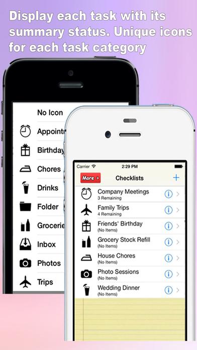 Best Checklist & Organizer (Pro Version-Ads Free) screenshot 1