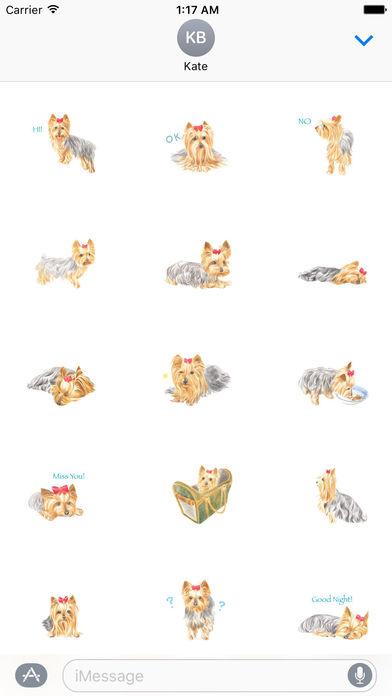 Yorkie Dog Stickers screenshot 1