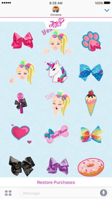 JoJo Siwa Stickers screenshot 1