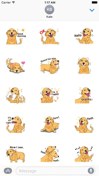 Storm The Brave Golden Retriever Dog Sticker screenshot 1