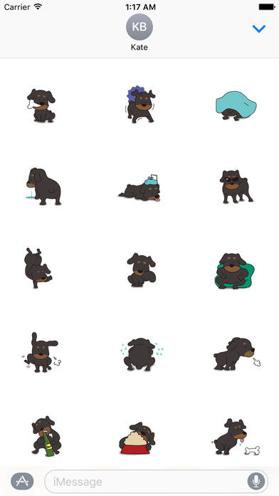 Rottweiler Dog - Rottiemoji Sticker screenshot 2