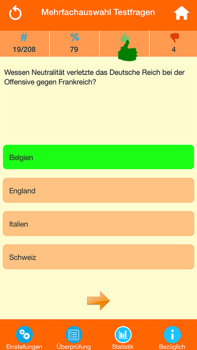 Der Erste Weltkrieg Quiz screenshot 2