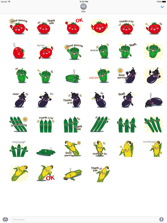 Funny Vegetables Emoji Sticker screenshot 4