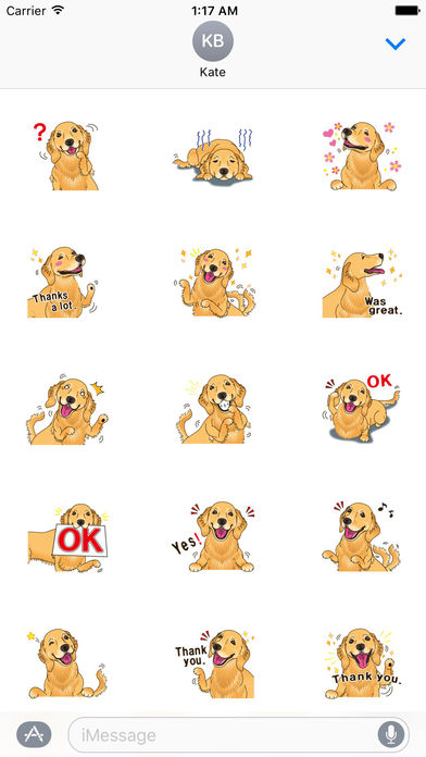 Storm The Brave Golden Retriever Dog Sticker screenshot 2