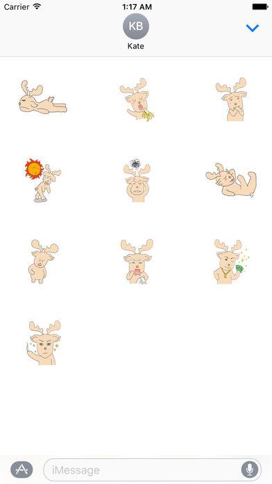 Happy Gay Deer Sticker screenshot 3