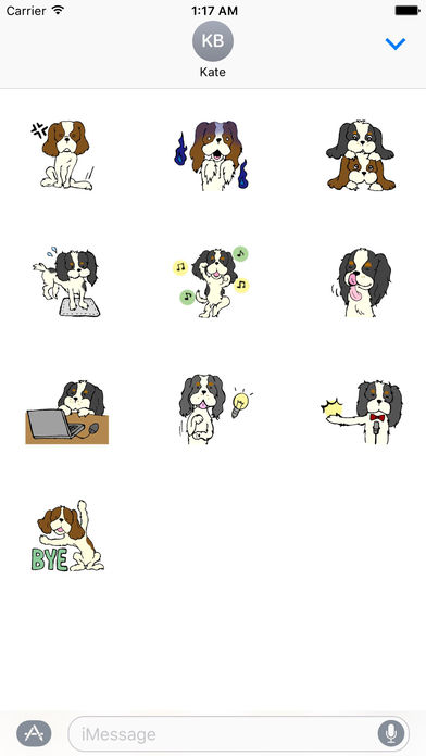 Cavalier King Charles Spaniel Dog Sticker screenshot 3