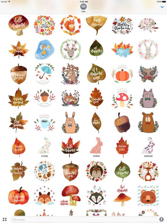 Autumn Love - Animal & Text & Elements Pack screenshot 8