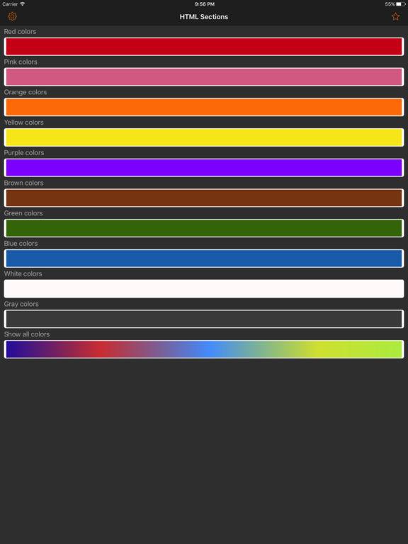HTML Color codes. WEB Palette screenshot 6