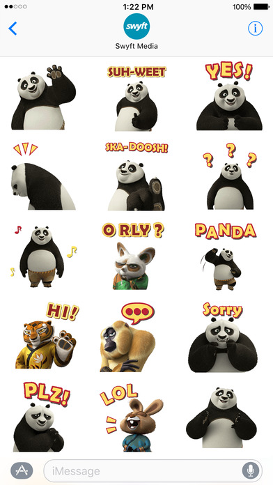 Kung Fu Panda Stickers screenshot 2