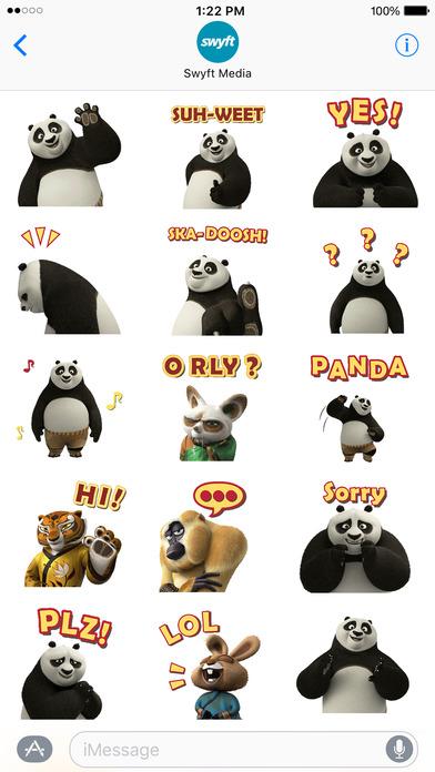 Kung Fu Panda Stickers screenshot 2