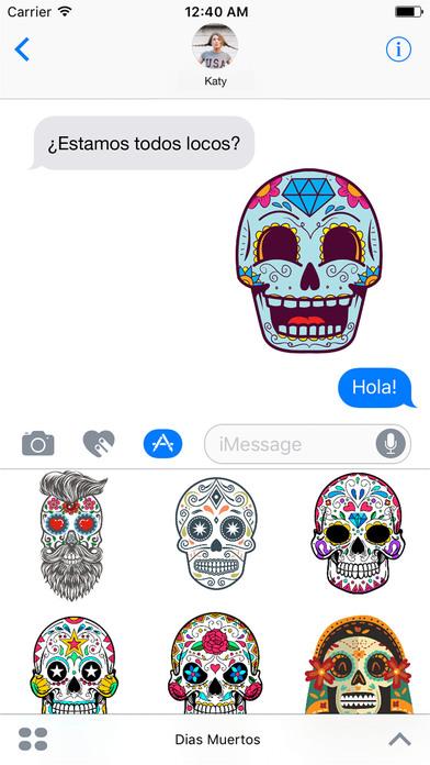 Dias de los Muertos - Colorful Sugar Skulls screenshot 1