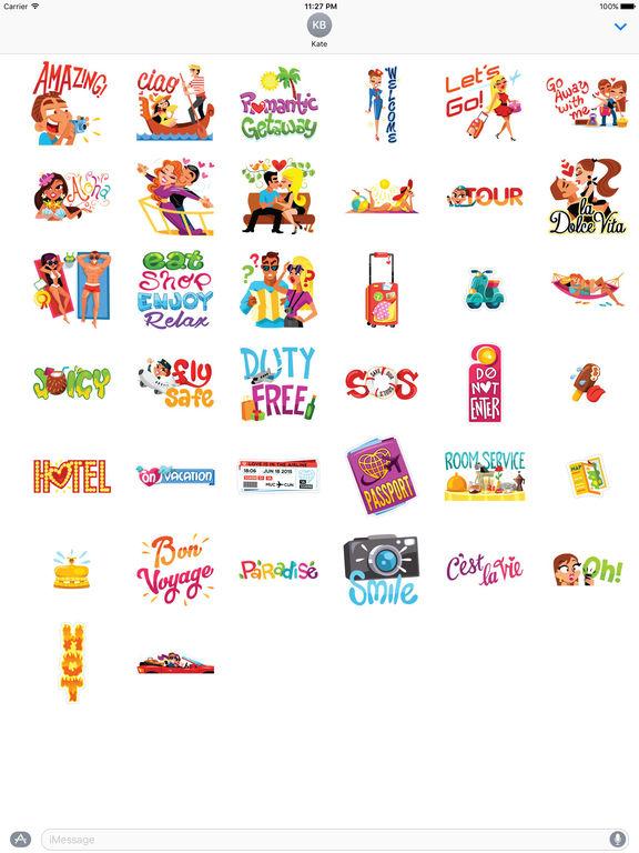 Love and Summer Vacation Emoji Sticker screenshot 4
