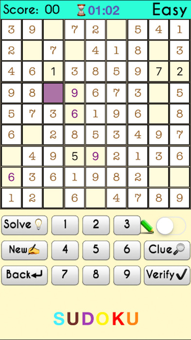 Complete Sudoku Puzzles 2- Full Featured Game screenshot 1