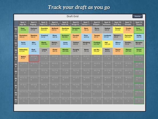 RotoWire Fantasy Hockey Draft Kit 2017 screenshot 9