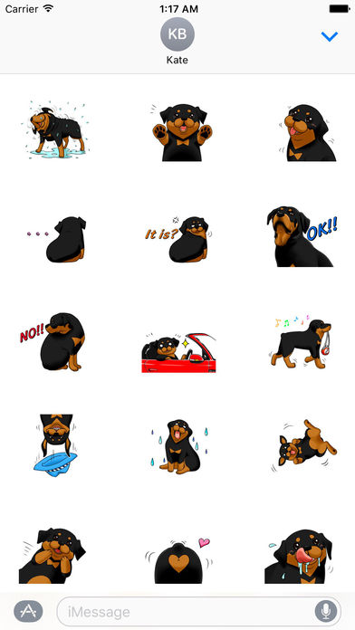 Rottmoji - Rottweiler Dog Emoji Sticker screenshot 2