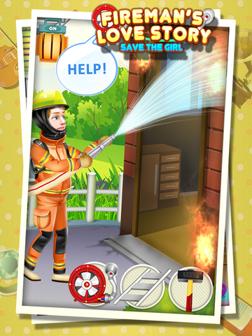 Fireman's Love Story - Rescue Game FREE screenshot 7