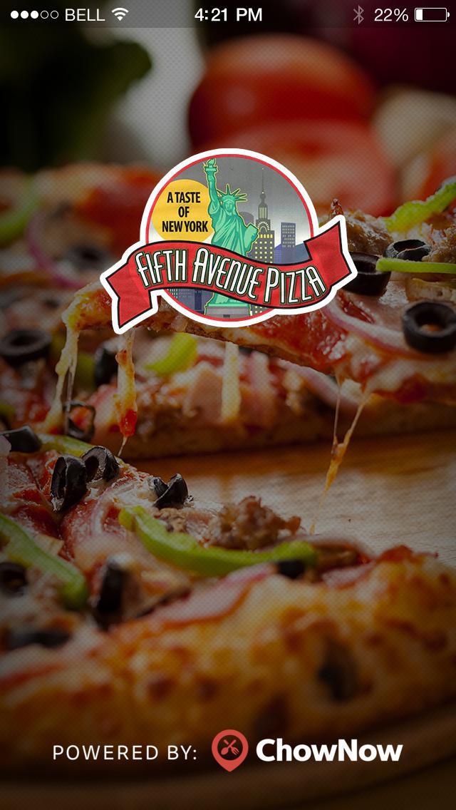 5th Avenue Pizza screenshot 1